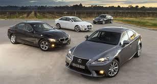 drive australia comparison lexus is 250 vs bmw 316i vs mercedes