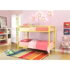 yellow metal bed frame twin over twin metal kids bunk bed yellow
