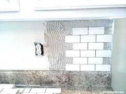 how to tile a kitchen backsplash subway tile kitchen backsplash edges how to tile a kitchen