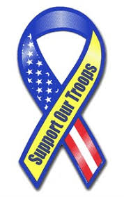 blue support ribbon support our troops ribbon magnets magnetic ribbon support
