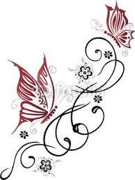butterfly swirl designs swirl tattoos butterflies
