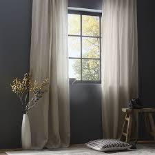 Light Linen Curtains Emery Linen Cotton Drape Pottery Barn 50x84