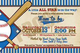 the inspiring collection of baseball baby shower invites which