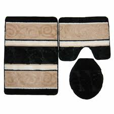 bathroom sweet home collection 3 piece shag bathroom rug set