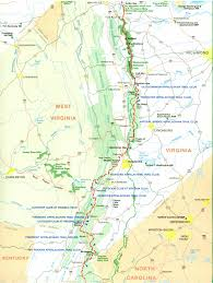 Virginia Mountains Map by Official Appalachian Trail Maps