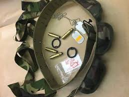 rambo headband complete army fancy dress party set bullet belt dogtags camo