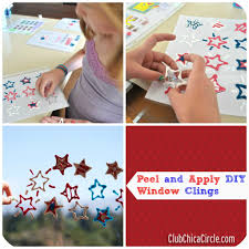 diy patriotic window cling craft club chica circle where