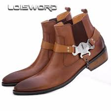 mens brown leather motorcycle boots online get cheap mens tan boots aliexpress com alibaba group