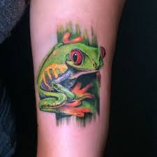 tree frog living in lava land
