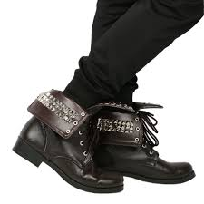 best motorcycle shoes xcoser michonne shoes deluxe brown pu rivet ankle boots the