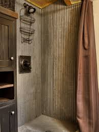 galvanized shower houzz