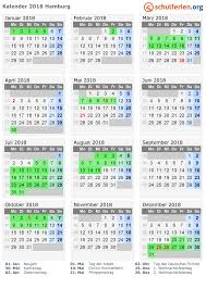 Kalender 2018 Hamburg Alle Termine Ferienübersicht Schule Burgunderweg Offene