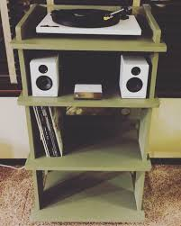 Record Player Cabinet Plans by Turntable And Record Stand 8 Steps With Pictures