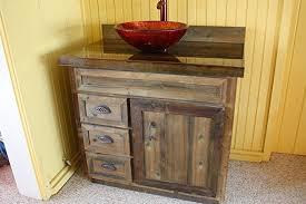 Barnwood Bathroom Vanity 36 Inch Cedar Barnwood Bathroom Vanity Handmade
