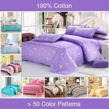 Lilac Bedding Sets Beautiful Cotton Floral Purple Bedding Sets King