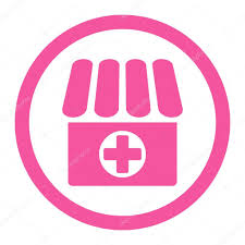 pink flat color drugstore flat pink color rounded vector icon u2014 stock vector