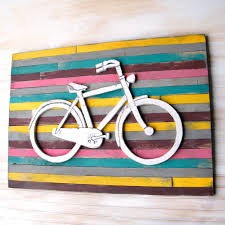 bicycle art pallet background large bicycle wall decor wooden