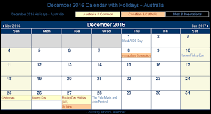 print friendly december 2016 australia calendar for printing