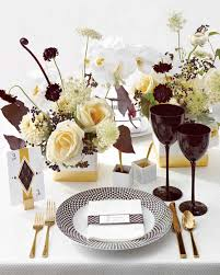 Gold Table Setting by Wedding Colors Black White And Gold Martha Stewart Weddings