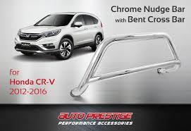 hyundai santa fe nudge bar chrome nudge bar for honda cr v 2012 2016 auto prestige