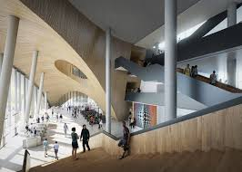 snøhetta images of new temple university library in philadelphia