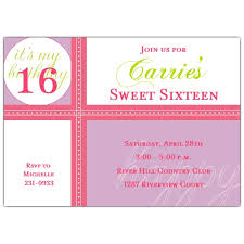 happy day sweet 16 birthday invitations paperstyle