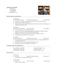 Teenage Resume Template Pastor Resume