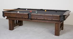 barnwood dining room pool tables