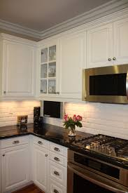 kitchens with subway tile backsplash beveled subway tile backsplash kitchen traditional with beveled