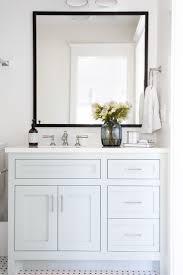flat black framed mirrors for bathroom home