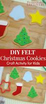 felt christmas cookies craft for kids imaginative play felt