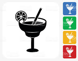 margarita icon lime cocktail icon flat graphic design stock vector art 494217586
