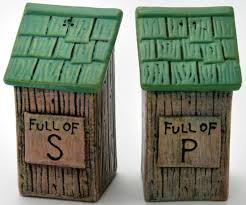 funny salt and pepper shakers outhouse shaped salt and pepper shakers