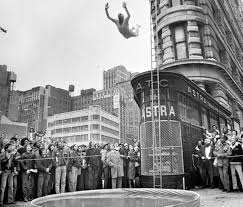 this man dove off the flatiron building into a collapsible plastic