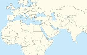 blank map middle east with other areas in middle east and europe