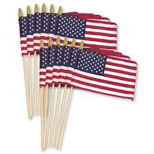 Flag Distributors U S Stick Flags Cotton 4