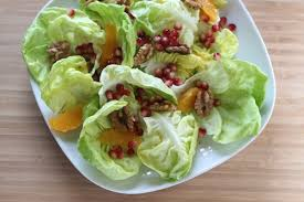 butter lettuce salad with pomegranate and walnuts recipe