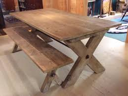 farm table with bench sawbuck table bench farm tables of vermont