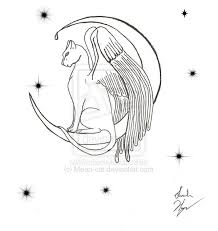 cat on moon tattoo sketch in 2017 real photo pictures images