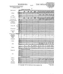 the bells op 35 rachmaninoff sergei imslp petrucci music