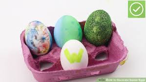 decorative easter eggs 4 ways to decorate easter eggs wikihow