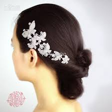 in stock metal six butterfly wedding bridal party hair