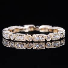 weddings 10k eternity deco 2ct diamond 10k yellow gold wedding band
