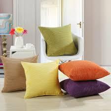 coussin pour canapé solide couleurs confortable velours housses de coussin pour canapé