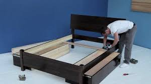 Assembling A Bed Frame Assembly Of A Bed And Fitted Drawers Pre July 2015