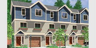 multi family house plans triplex triplex plans small lot house plans row house plans t 413