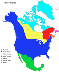 Map Of North America Countries by North America Altcanada Alternative History Fandom Powered