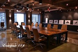 Black Boardroom Table Toronto Reclaimed Wood Boardroom Table With Casters Blog