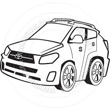 cartoon car drawing cartoon small car black and white line art by ron leishman