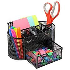Desk Supplies For Office Mesh Desk Organizer Caddy For Office Supplies And